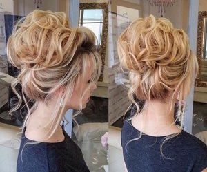 bride, hairstyle, and wedding image