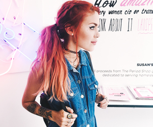 cute girl, grunge, and fashion image
