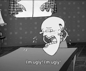 ugly, courage the cowardly dog, and cry image