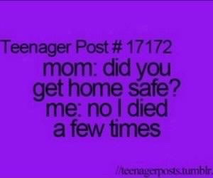 teenager post, funny, and mom image