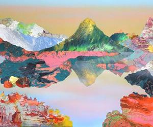 art, mountains, and theme image