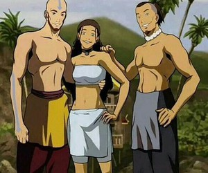 beach, aang, and avatar the last airbender image