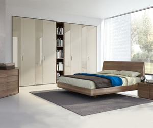 bed, wooden bed, and spar image