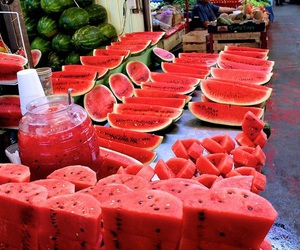 drinks, red, and watermelons image