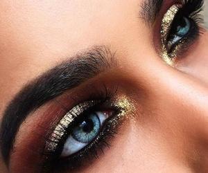 eyebrow, eyes, and make up image