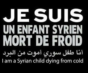cold, syria, and children image