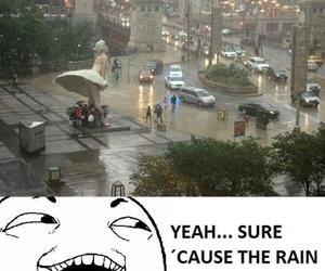 funny, marylin monroe, and rain image
