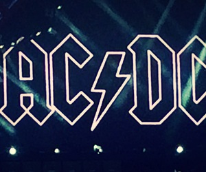 ACDC, angus young, and Logo image