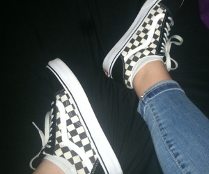checkered and vans image