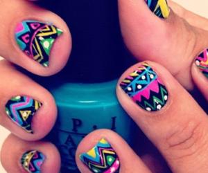 colorful, nail polish, and nails image