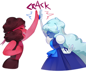 comic, ruby, and steven universe image