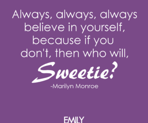 Marilyn Monroe, quotes, and Sweetie image