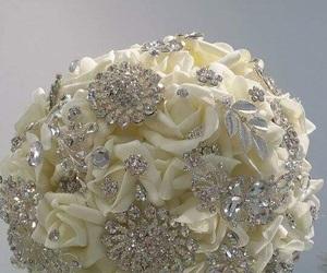bouquet, wedding bouquet, and white roses bouquet image