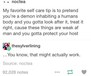 demon, funny, and tumblr image