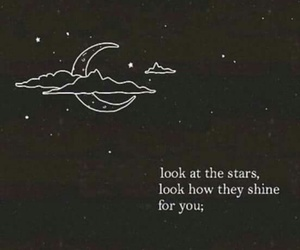 quote, stars, and moon image