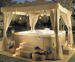 romantic, home, and hot tub image