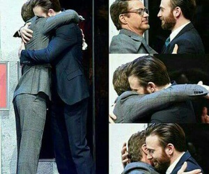 chris evans, robert downey jr., and stony image
