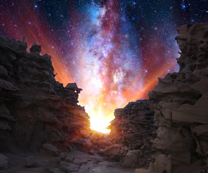 milky way, space, and stars image