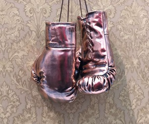 art, boxing, and gloves image