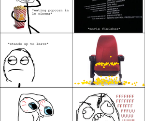 cinema, popcorn, and funny image