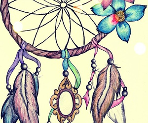atrapasueÑos, colors, and dream catcher image