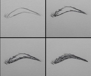 eyebrows, drawing, and how to draw image