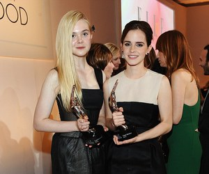 Elle Fanning and emma watson image