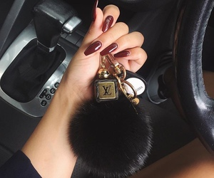 key chain, Louis Vuitton, and nails image