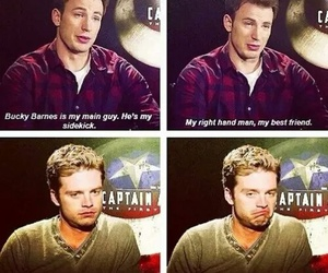 captain america, sebastian stan, and chris evans image
