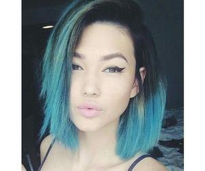 neon jungle, hair, and blue image
