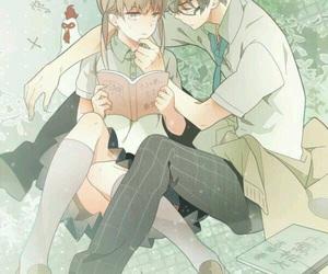 anime, tonari no kaibutsu-kun, and couple image