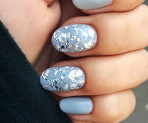grey, nails, and style image