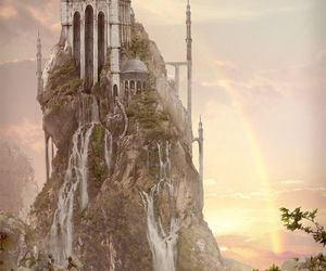 art, castle, and fantasy image