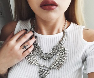 fashion, necklace, and tattoo image