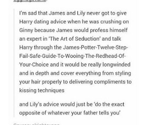 dating, ginny weasley, and harry potter image
