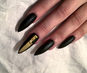 nails, black, and knife image