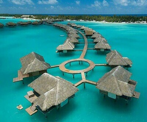 bora bora, sea, and summer image