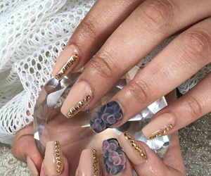 diamonds, flowers, and nails image