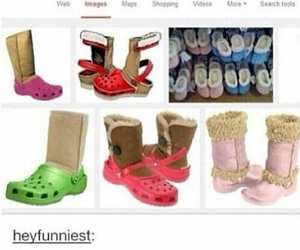 funny, crocs, and uggs image