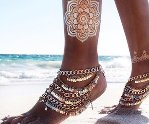 summer, beach, and tattoo image