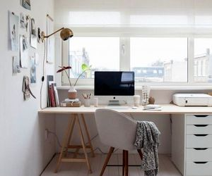 desk, room, and decor image