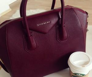 Givenchy, bag, and starbucks image