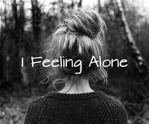 alone, cry, and feeling image