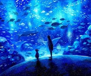 aquarium, art, and fish image