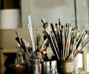 photography, old things, and paint brushes image