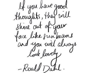 quote, thoughts, and Roald Dahl image
