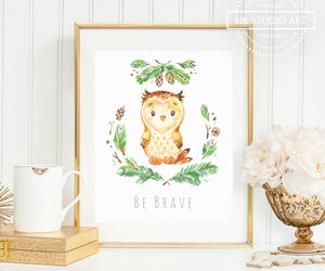 art prints, be brave, and etsy image
