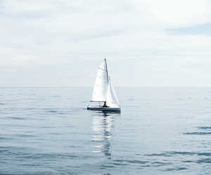 blue, boat, and sea image