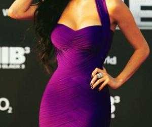 dress, nicole scherzinger, and purple image