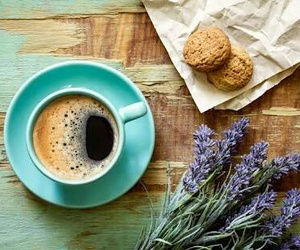 black, coffee, and lavender image